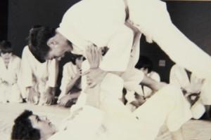churchie dojo early 1970s doug stomach throw on david shannon