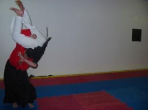 sensei beaux leeson nidan sakura hana ryu ju jitsu grading throw stafford dojo nov 2004