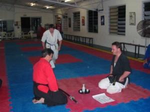sensei beaux leeson nidan sakura hana ryu ju jitsu sake ceremony nov 2004