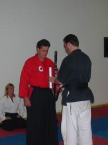 sensei beaux leeson nidan sakura hana ryu ju jitsu sword ceremony nov 2004