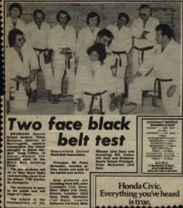 sensei doug shodan judo grading run by shihan bill cadoo june 1977