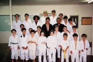 sijo demile seminar albion dojo with a yellow belt wil tritton 1993