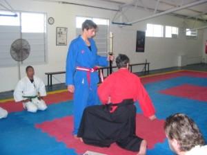 wil tritton sempai sword ceremony stafford dojo august 2005